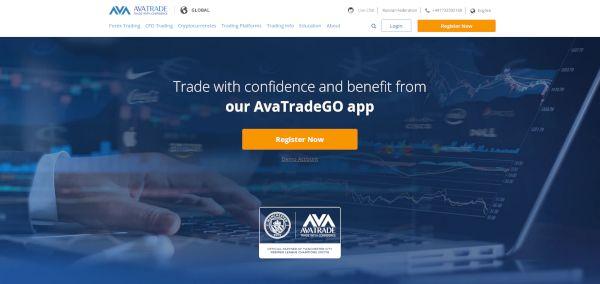 Avatrade main page