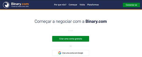 Binary.com abrir conta demo - passo 1