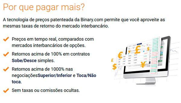 O que faz da Binary.com diferente de outras plataformas?
