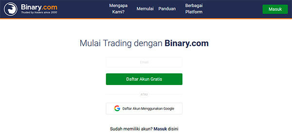 Binary.com akun demo