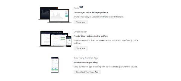 Binary.com trading platforms