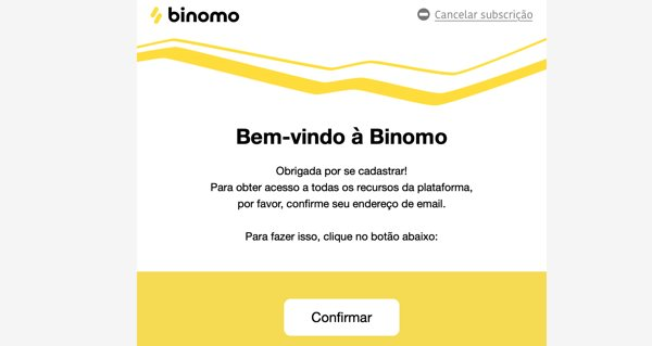 Binomo confirmar email