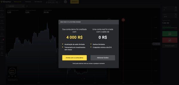 Binomo gratis 4000R$