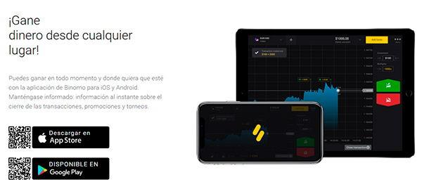 Plataforma y aplicación móvil Binomo