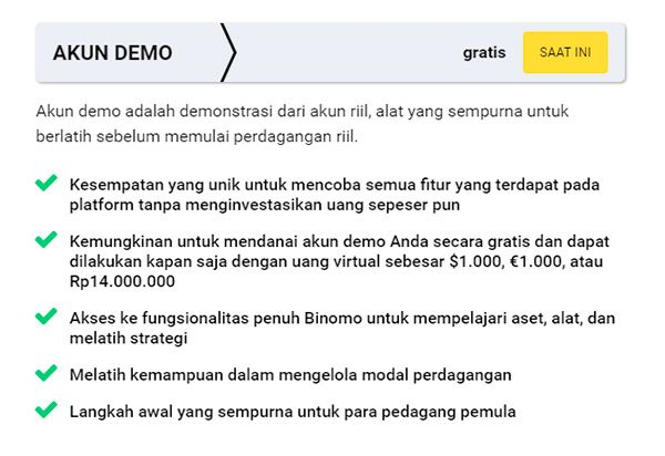 Binomo akun demo