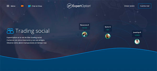ExpertOption Social Trading