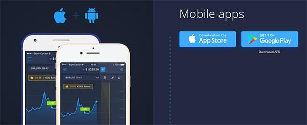 Expertoption mobile apps