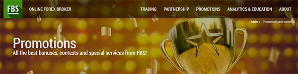 FBS Forex Promos