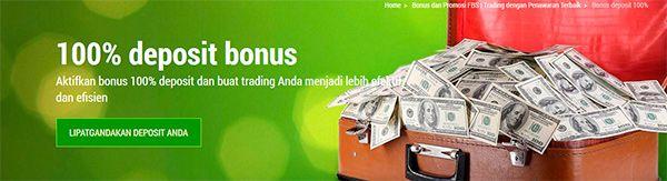 FBS Forex Bonus Setoran 100%