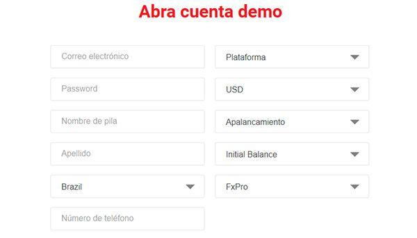 FxPro Cuenta de Demostración