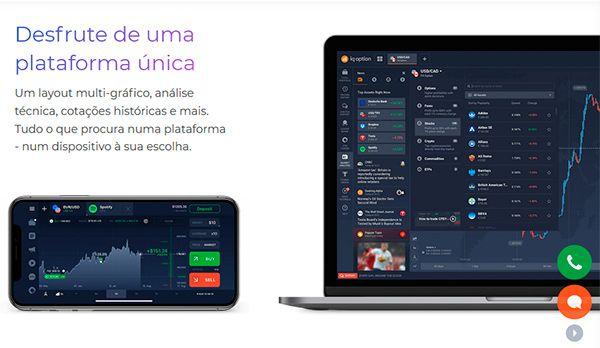 IQ Option Plataforma Mobile