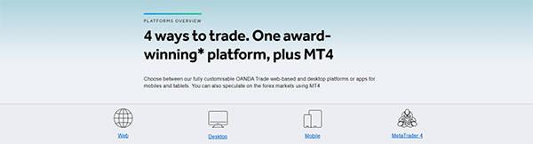 Trading Platforms at Oanda