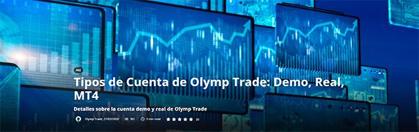 Olymp Trade tipos de cuentas