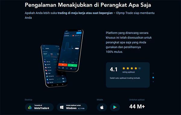 Platform Seluler & Aplikasi Olymp Trade
