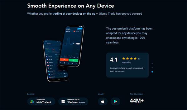 Olymp Trade Mobile Platform & Apps