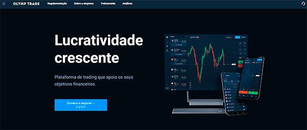 OlympTrade homepage