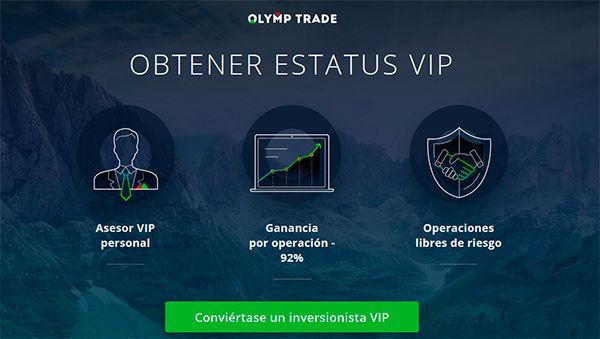Olymp Trade ¿Cómo puede convertirse en un VIP?